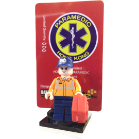 HONG KONG PARAMEDIC Minifigure (Custom Printed in USA)