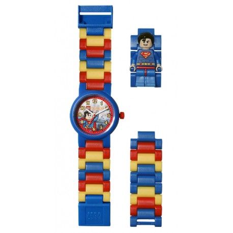 8020257 DC Super Heroes SupermanTM Kids' Minifigure Link Watch