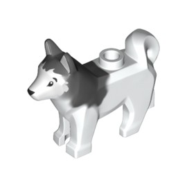 17817 Dog Husky with Black Eyes Animal No.17