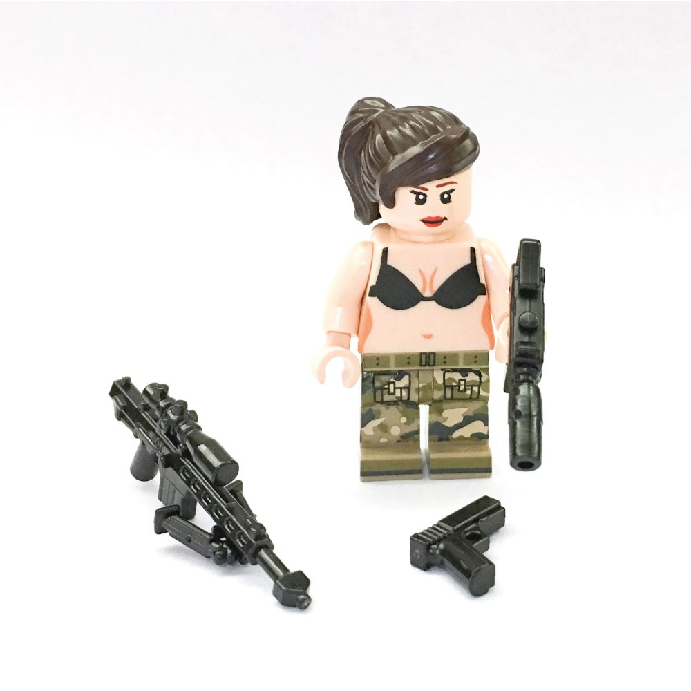 Combat Kini Girl Custom Printed LEGO® Minifigure - Bricks CaNal Store
