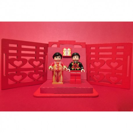 99990105 Chinese wedding set Custom Printed LEGO® Minifigure