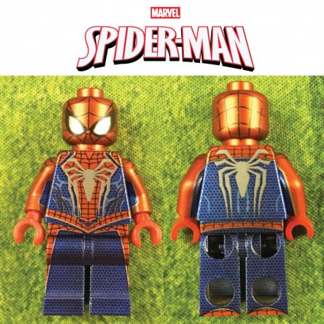 Spider-man (Metallic) Custom Printed LEGO® Minifigure