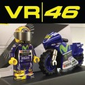VR46 Motorcycle and Driver Custom Printed LEGO® Minifigure