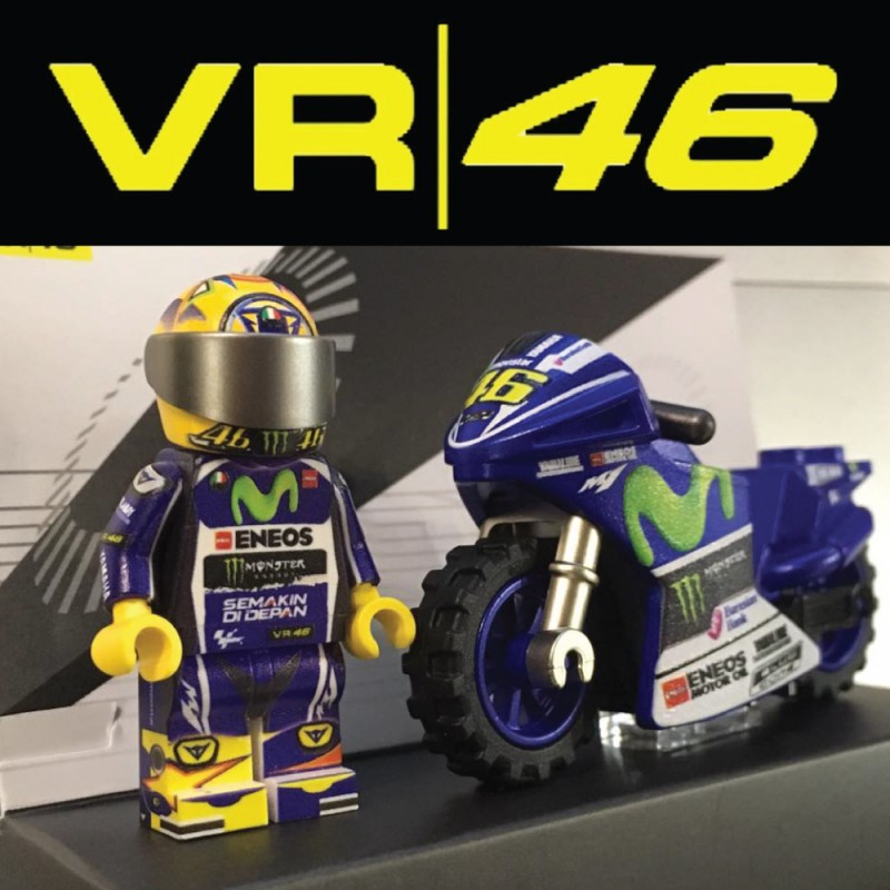 Vr46 Motorcycle And Driver Custom Printed Lego 174 Minifigure